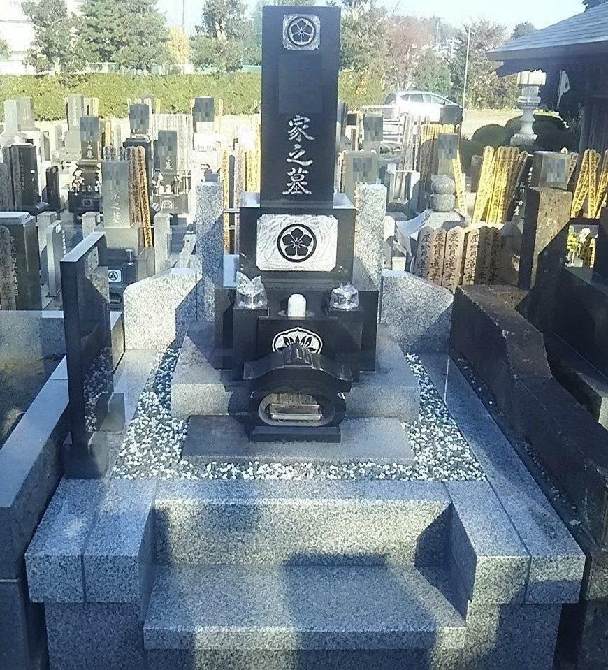 見ちがえる程きれいなお墓になり、家族も喜んでいます。ありがとうございました。